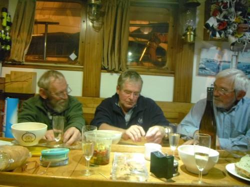 2013-10-15 21h 54 Eric, Patrick et Antoine dans le carré de Noordvaarder.JPG